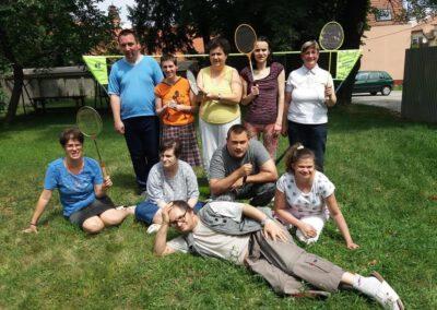 Virágfüzér Sérültek Napközi Otthona - foglalkozások - tollaslabda